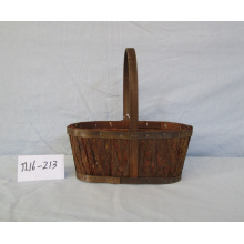 Oval Wood Bark Basket