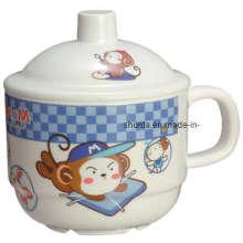 Vaisselle de mélamine de 100% - tasse de l'enfant W / Cover / vaisselle de mélamine (BG633S)