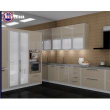 Современный мини-малогабаритный дизайн кухонной мебели с плоским корпусом из камня для прилавок