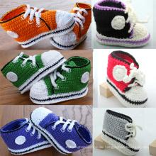 Baby Jungen Häkelarbeit strickte beiläufige Schuhe handgemachte woolen
