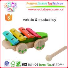 Juguetes de cocodrilo musical de madera