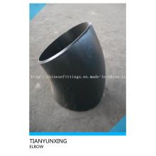 Lr 45degree Codo de tubo sin soldadura de acero al carbono