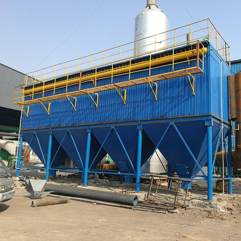 High temperature dust collector of biomass boiler