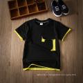 Wholesale été noir casual enfants vêtements enfants vêtements t-shirt pour les garçons