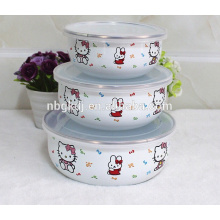 utensilios de cocina especiales para calcomanías Bol de hielo de esmalte chino