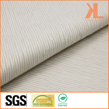 Polyester Inherently Flame Retardant Jacquard White Striped Woven Fireproof Curtain/Sofa Fabric