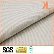 Полиэстер Непосредственно огнестойкий жаккардовый белый Полосатый тканый огнеупорный занавес / диван-ткань