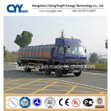 China LNG Liquid Oxygen Tank Car Semi Trailer mit ASME