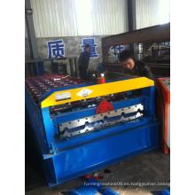 Hoja de techo de acero de color que forma la máquina