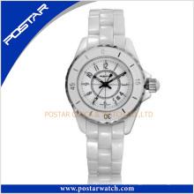 White Ceramic Watch Manufacturer em Shenzhen com vidro de safira