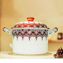 кухонной посуды эмаль Набор посуды горшок супа элегантная кухня наклейки посуда эмалированная посуда суп горшок элегантный наклейки
