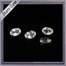 Topacio natural blanco cristalino de alta calidad de la forma de 6X8m m Oval