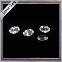 6X8mm Oval Shape High Quality Crystal White Natural Topaz