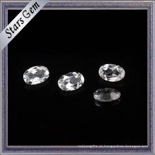 Topázio natural branco de cristal de alta qualidade da forma oval de 6X8mm