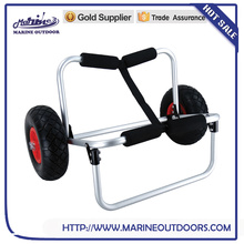 Fishing kayak wholesale, Aluminum beach trolley for canoe, Lightweight folding trolley