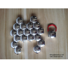 17mm Roda Chrome Lug Nut Covers