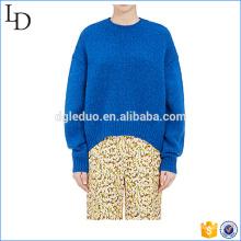 Модный пуловер женщин свитер негабаритных вязаный свитер