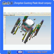 injection plastique moule 3d conception agent(OEM)