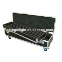 Aluminum dj flight case aluminum carrying case with wheels