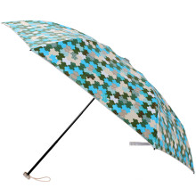 Manual Open Jigsaw Printing 3 Folding Umbrella (BD-72)