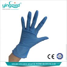 Guantes desechables de examen de nitrilo sin polvo