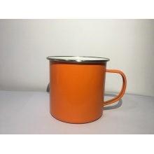Camping Tin Enamel Mug with Handle Outdoor Indoor