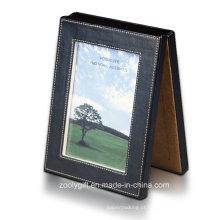 """Novo Design e requintado Prático Eco-Friendly Moda Couro Dupla Folding 5 X 7 """"Photo Frames"""