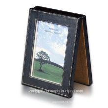 """Новый дизайн и изысканный практичный экологически чистый кожаный кожаный складной 5 х 7 """"рамок для фотографий"""