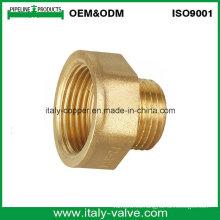 Zócalo macho del extremo forjado de cobre amarillo certificado ISO9001 (AV-BF-7037)