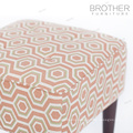 Home french Birth wooden upholstered tufted foot rest ottoman