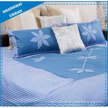 Navy-DOT Patchwork Blumen-Polyester-Bettbezug-Set