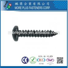 Taiwán M3X10mm Negro de acero tornillo de cinc Phillips para el tornillo de encuadernación auto plástico Tapper