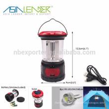 Produtos Líder da Ásia 8pcs F8 LED Solar Camping Light com 3.7V.800mAH NI-MH bateria