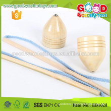 Children Solid Wooden Spinning Top Toy Classic Toys