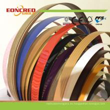 Banda del borde del PVC del uso de los accesorios de los muebles de 0.8mm 2m m para el mercado de Vietnam