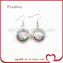 Boucles d'oreilles bijoux médaillon rondes en acier de 20 mm