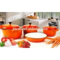 Colorful enamel cast iron casserole
