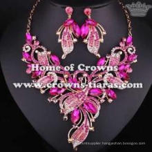 Alloy Crystal Wedding Necklace Set Jewelry Set