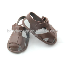 Summer cute kids sandals outdoor wear PU baby shoes