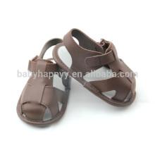 Summer cute kids sandals outdoor wear PU baby shoes