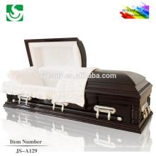 JS-A129 meilleur prix usine de cercueil en bois massif