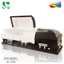 JS-A129 best price solid wood casket factory