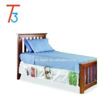 Saco de armazenamento escondido quente do armazenamento da sapata da saia da cama da venda sob o armazenamento da sapata da cama
