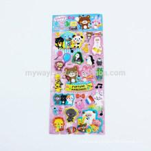 Série Kids Animal Design Feliz festa Cute 3D Puffy Sticker