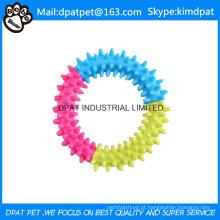 Forma redonda com o brinquedo de quatro cores TPR para a mastigação do cão