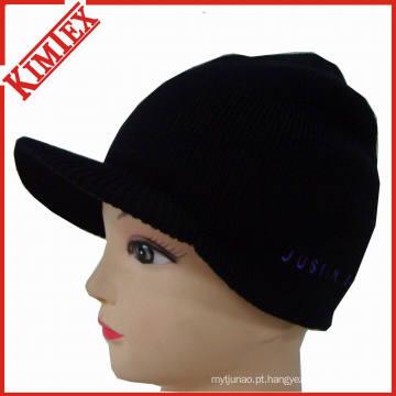 Chapéu de malha de inverno barato com pico