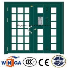 Nonstanrd Size Swing Security Entrance Steel Glass Door (W-GD-33)