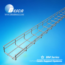 Telecom wire basket cable tray size/wire mesh cable tray