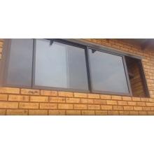 Empilhamento de abertura de três canais de alumínio deslizante Windows