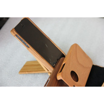 Simple Style Mobile Wood Cover with Wood Stand